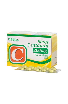 Béres, C-VITAMIN 200 mg, С-ВИТАМИН 200 мг, 90 шт