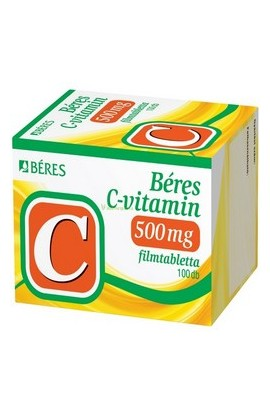 Béres, C-VITAMIN 500 mg, С-ВИТАМИН 500 мг, 100 шт