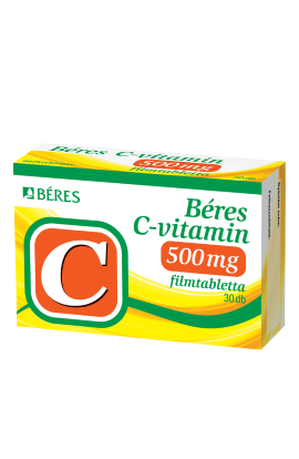Béres, C-VITAMIN 500 mg, С-ВИТАМИН 500 мг, 30 шт
