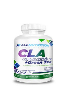 ALLNUTRITION, CLA + L-карнитин + зеленый чай, CLA + L-Carnitine + Green tea, 120 шт