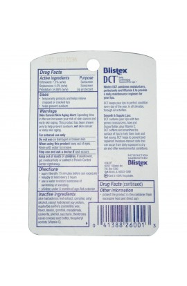 Blistex, DCT (Daily moisturizing) for the lips, SPF 20, 0.25 oz (7.08 g)