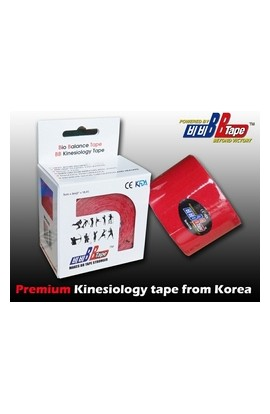 BB Tape Kinesiological tissue - 5m x 5cm red