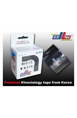 BB Tape Kinesiological tissue - 5m x 5cm black