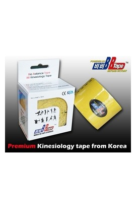 BB Tape Kinesiological tissue - 5m x 5cm yellow