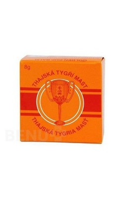 ALFA VITA, Thai Tiger Ointment Golden Cup Balm 8g, 1 pcs