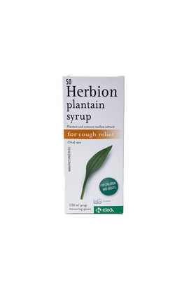 KRKA, Гербион сироп подорожника, Herbion plantain syrup, 150 ml