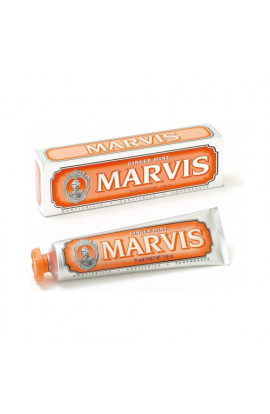 Marvis, Ginger Mint Fluoride Free Toothpaste, 25ml
