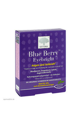 New Nordic, БЛЮ БЕРРИ, blue berry eyebright, 60 шт