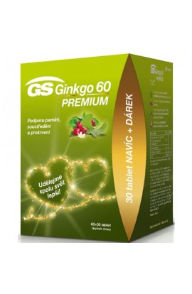 GS, Ginkgo 60 Premium gift pack of 60 + 30 tablets